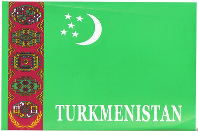 003_Turkmenistan Flag, with the 5 Regions