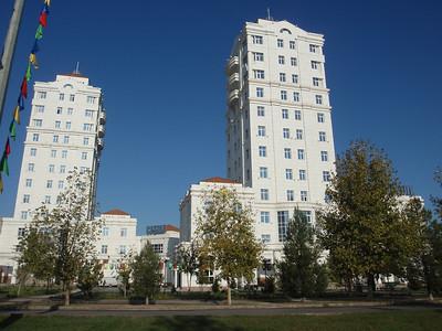 029_Ashgabat, Lavish marble appartment buildings