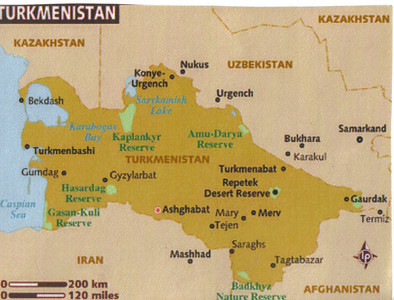002_Turkmenistan  Mostly desertic conditions  Oil and gas reserves