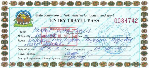 007_Turkmenistan Travelling Document