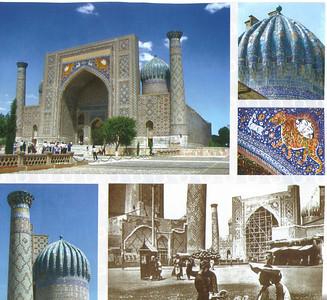 303_Samarkand, Registan Square, Sher Dor Madrassah, 1619-1636