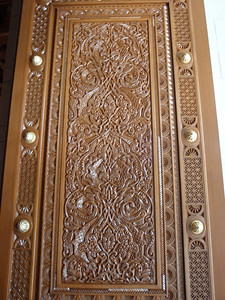 024_Grand Mosque  The Inner Way  Wooden Carved Door