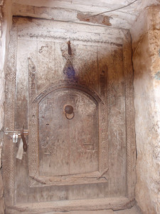 297_Al-Mahwit  An Old Carved Wooden Door