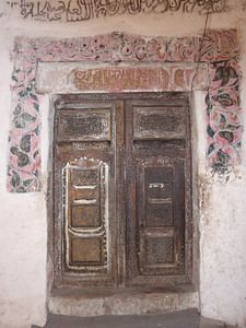 572_Jibla Old Town  Old Wooden Carved Door
