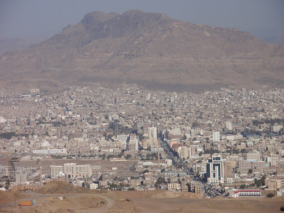 004_Sana'a  2200m ASL  Surrounded by Basalt Mountains