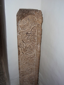 122_Door Jamp Decorated with Grape and Vine Leaf Motive  3BC