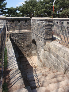 155_Suwon  Hwaseong Fortress Walls  1796  Seommun  Western Secret Gate  Passage of people, cattle and military supplies jpg