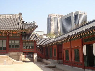 039_Seoul City  Deoksugung Palace  Hamnyeongjeon  A walkway-like servants, quarters surrounding the ondol rooms jpg