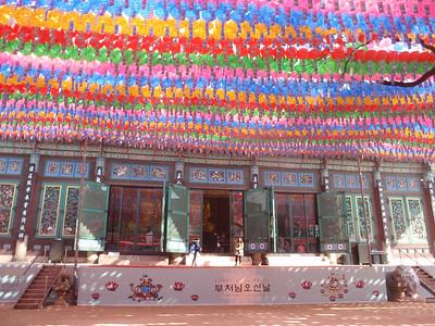 008_Seoul City  Jogye-sa Buddhist Temple  Preparation for Yeon Deung Hoe  Lotus Lantern Festival jpg