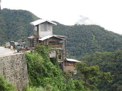 704_The Cordillera  Between Banaue and Bangaan Village  The Hanging House  Wooden Stilts