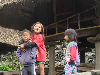 734_Bangaan Village and Rice Terraces  Kids having fun
