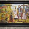 068_San Augustin Museum  Ferdinad Magellan giving the Santo Nino to Queen Juana in 1521