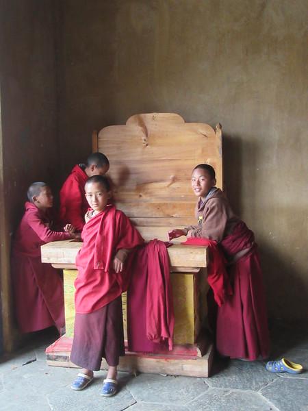 429_Gantey  Gangtey Gompa  Young monks having fun and enjoying life