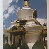 142_Thimphu  The National Memorial Chorten  Golden spires gleaming in the sun and its large white dome