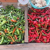 103_Paro  Central Market  Fresh Green and Red Chilies