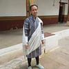 289_Punakha Dzong  When meeting a high-ranking official, men wear a ¨kabney¨  Nishal Gurung (guide)