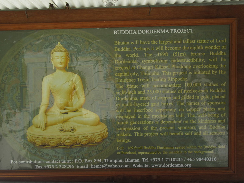 150_Thimphu Valley  Buddha Dordenma Project  The body itself is filled with 125,000 smaller statues of Buddha