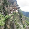 131_Upper Paro Valley  Takstang Gompa (Monastery)  Tiger's Nest  Dramatic cliff-hanging Monastery