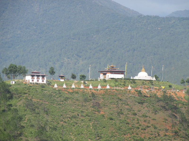 234_Between Docho La and Punakha Valley  Monastery and Chortens