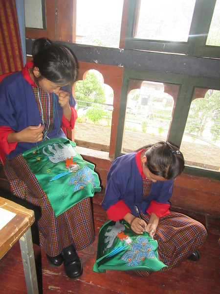 222_Thimphu Institute for Zorig Chusum  Embroidery I and II  Hanging, boot, clothes