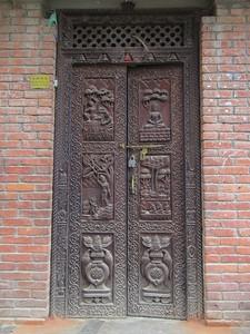 035_Bungamati  Door Panel  Intricate Wood Carving