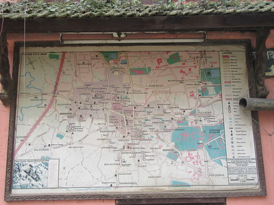085_Patan  Map  The second largest town in the Kathmandu Valley