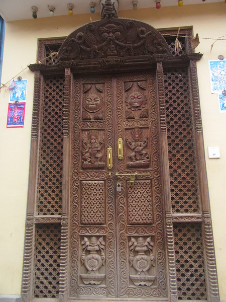 066_Karyabinayak Municipality  Door Panel  Intricate Wood Carving