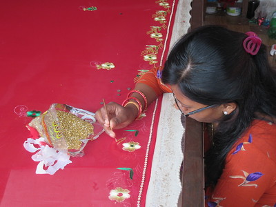 043_Bungamati  Embroidery