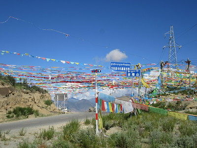 020_From Tsethang to Samye Monastery  Tugu La (pass), 5100m  Tarchok (string of prayers flags)