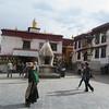 199_Lhasa  Old Town  Barkhor Circuit  Mani Lhakhang (a small chapel) and a big Encense Burner