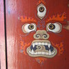 132_Drathang Gompa (Monastery)  Devil Head and Squelleton, meant has scarring away evil spirit