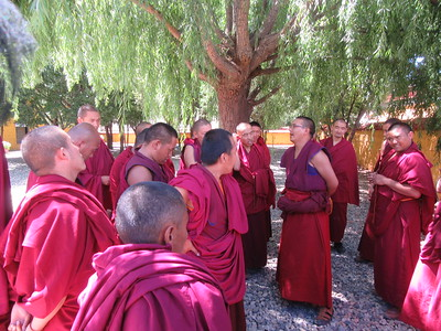 036_Samye Monastery  Monks debatting