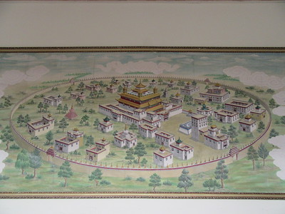 022_Samye Monastery  Built as a Mandala, with a main temple in the middle surrounded by an array of smaller chapels