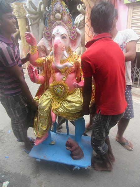 108_Ganesh  Hindu god of good fortune  Elephant-headed son of Shiva and Parvati  The Ganesh Charturthi Festival, September 5th