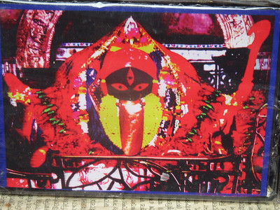 061_Southern Kolkata  Kalighat District  Kali  Ominous-looking evil-destroying form of Devi