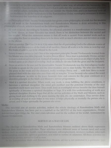 135_Kolkata  Ramakrishna Math and Ramakrishna Mission  Ideology