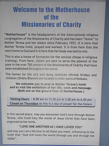 018_Kolkata  Missionnaries of Charity Headquarters, Est'd 1952  Mother Teresa House