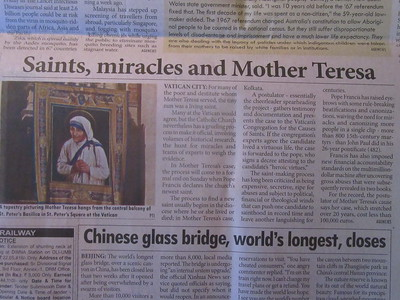 038_Kolkata  September 4th  2016  The morning before Mother Teresa was proclaimed a Saint