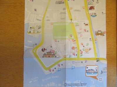 006_Bandar Seri Begawan  Map  Built 12km upriver from Brunei Bay, on the north bank of Sungai River