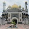 037_Jame Asr Hassanil Bolkiah Mosque  Brunei's largest mosque  Four terrazzo-tiled minarets