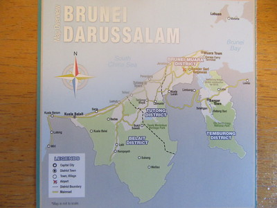 002_Brunei Durassalam  Map  An oil rich Kingdom located on the northern shores of the Island of Borneo