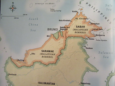 003_Sabah  Has a narrow coastal plain which gives way to mountains and jungle