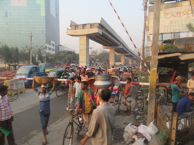 029_Dhaka  Traffic Jam  Upcoming Overpass
