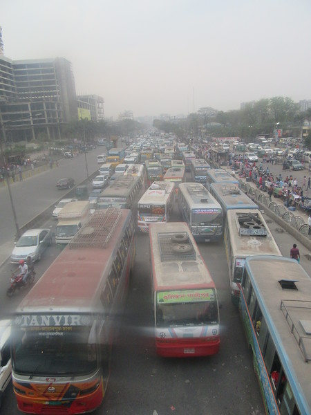 007_Dhaka  Airport and Train Station  Trafic Jam  Air and Noise Pollution