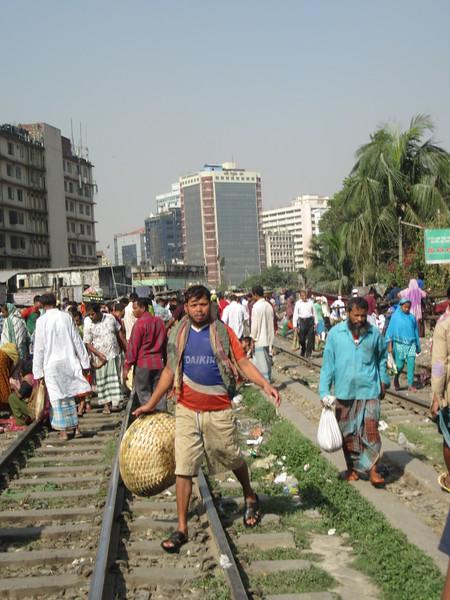 036_Dhaka  Rail Tracks Activities