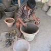 398_Dhamrai  Artisans of Bengal  Step 2, Preparing the Base of the Big Clay Pot