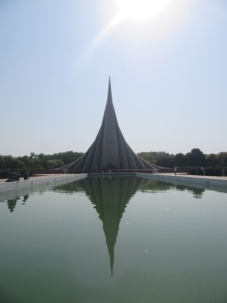 020_Savar  National Martyrs' Memorial  Seven isosceles triangular planes each varying in size in its height and base