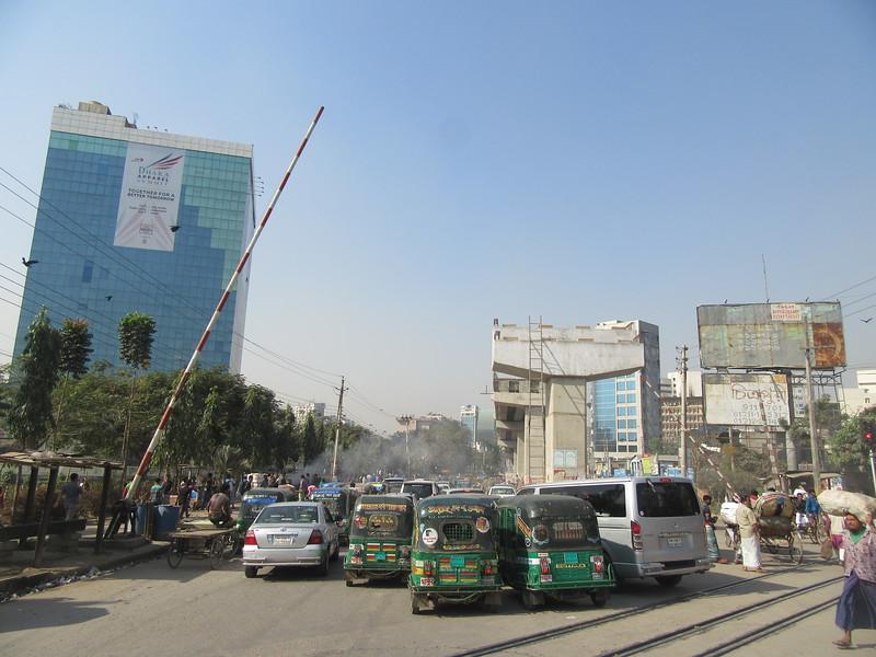 032_Dhaka  Traffic Jam  Upcoming Overpass
