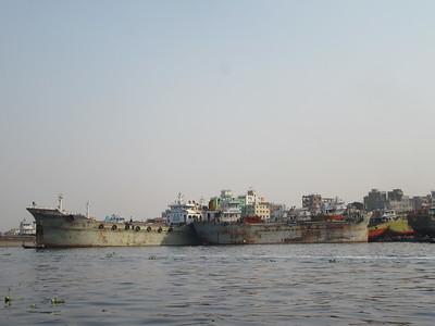 100_Dhaka  Keranigonj Ship Yards  Repairing Ships  In excess of 150 Companies doing Ship Repairs or Demolition