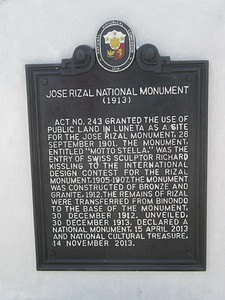 007_Manila  Rizal Park and Rizal Monument  Country's writer and national hero, Dr  Jose Rizal